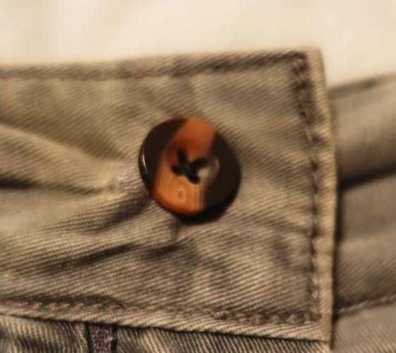 button, shorts, wardrobe malfunction, repair