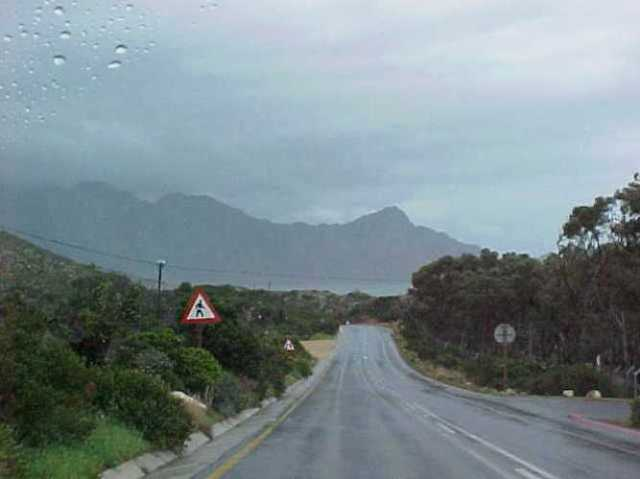 south africa, rainy day, coast, rock formations