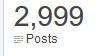 blog milestones, 3k, 2999, posts