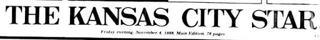 Kansas City Star, November 1988, Bush Election, Elections