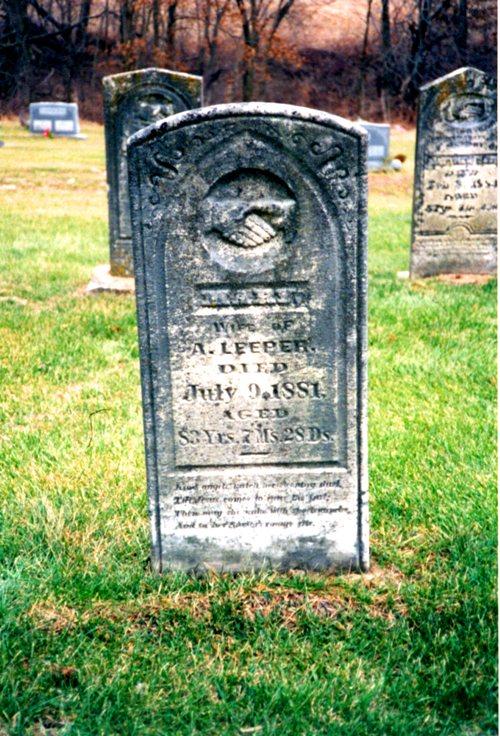 Mary Thomas Leeper, Green Mound Cemetery