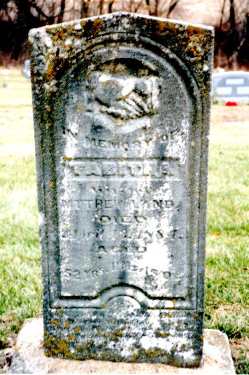 Tabitha Leeper Land, Green Mound cemetery, trenton, iowa
