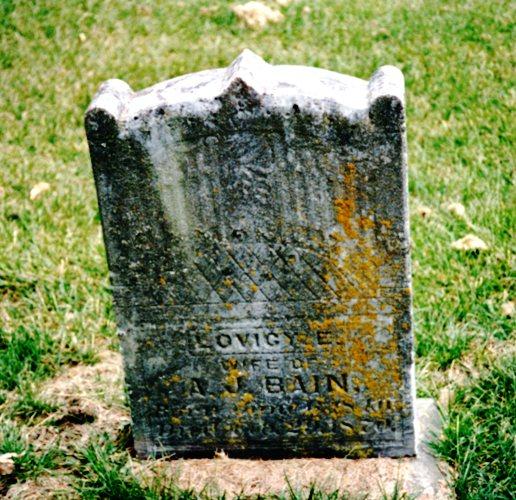 Lovicey Leeper Bain, green mound cemetery