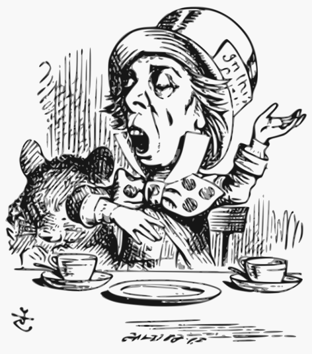 mad hatter lewis carrol, Alice's Adventures in Wonderland