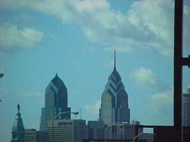 Philadelphia skyline, 2000, virtually there