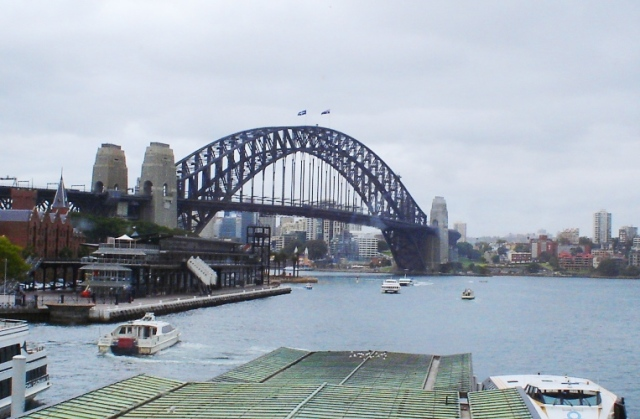 Sydney Harbour Bridge, Australia, first trip