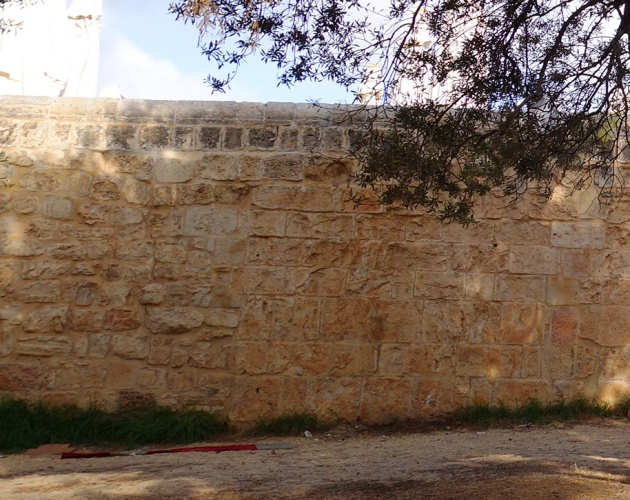 temple mount wall seam, Eastern wall of platform
