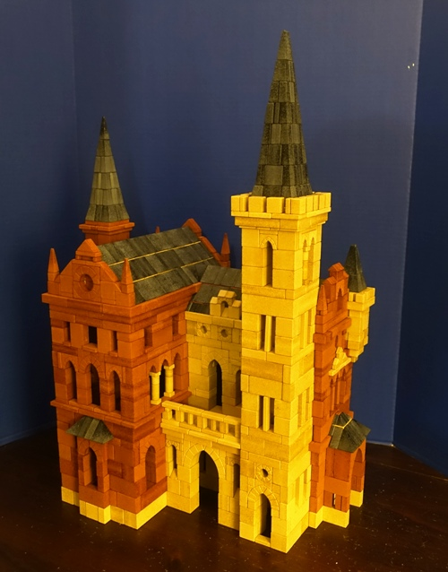 Ankerstein Castle, building blocks, stones, German Toys