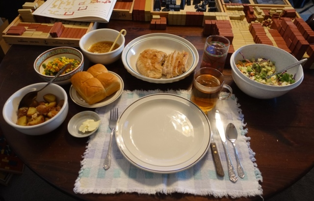 thanksgiving, setting, feast