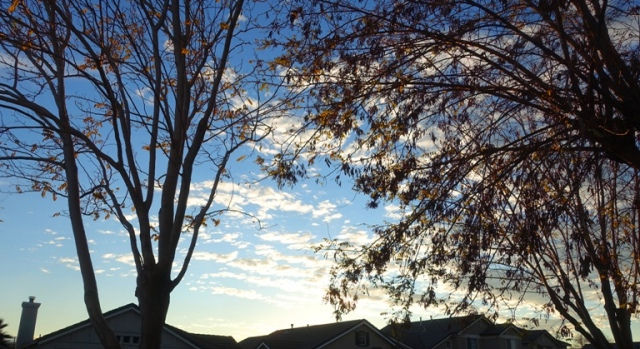 scattered clouds, sunset hope, california sky, winter sky