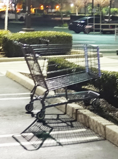 cart return, grocery store, grocery cart, curb, pet peeve