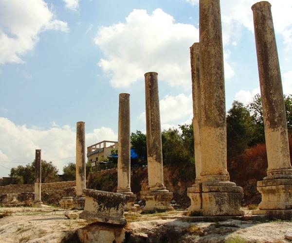 basilica, samaria, archaeology, roman ruins in israel