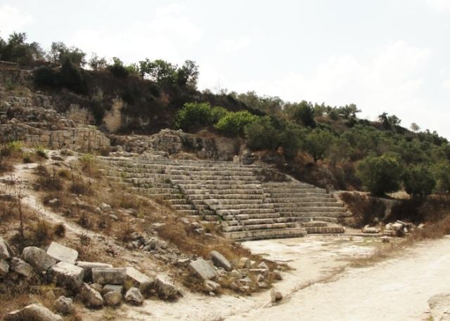 theatee, theater, samaria, ruins, roman, sebaste