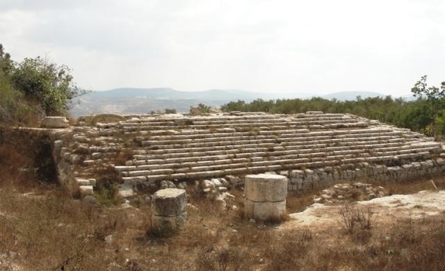 samariia, sebaste, augusteum temple