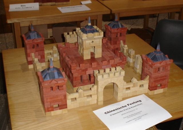 ankerstein, building blocks, chinese fortress, hobbies, jena, germany