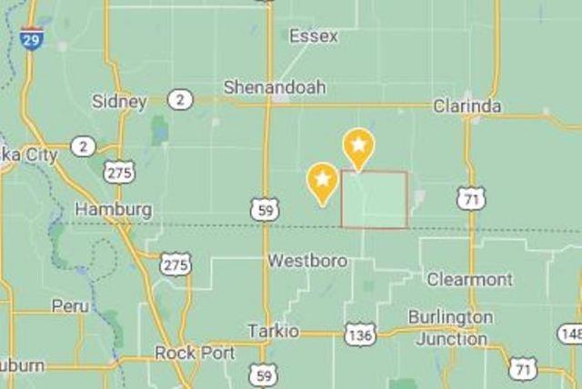 Coin Iowa, Colfax Twp, Page County, Iowa, Maps, Northboro