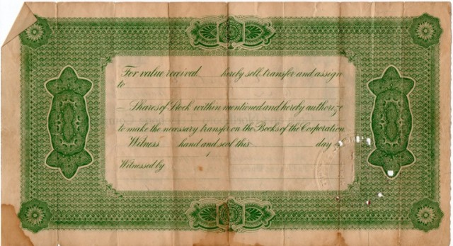 coin, northboro, iowa, telephone stock, old stock certificate