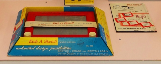 50s toys, etch a sketch, toys, drawing, sfo museum