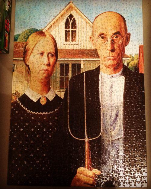 american gothic, puzzle, Iowa