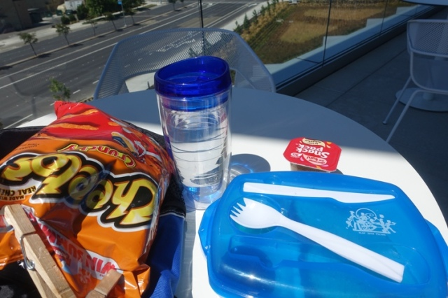 lunch, cheetos, outdoor lunch
