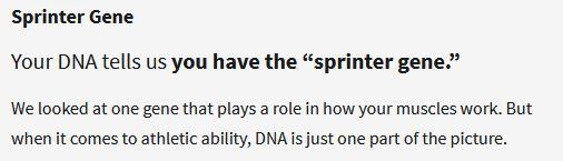 DNA Traits, Ancestry DNA, Sports determination, genes