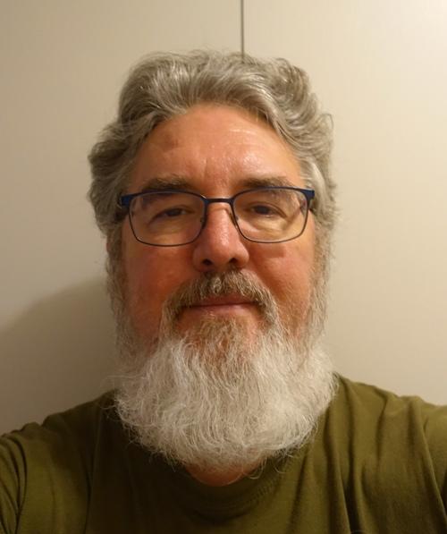 full beard - pre hair cut - face change