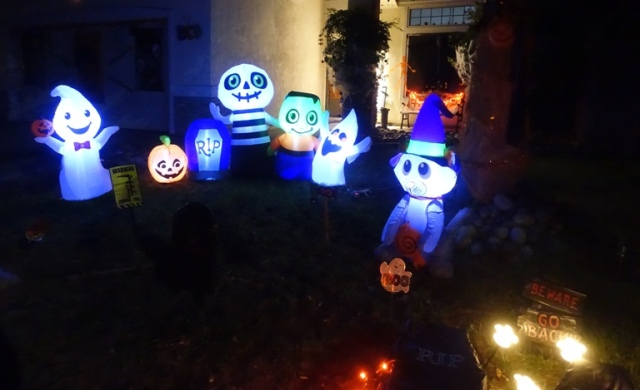 Halloween, blowup decorations, body parts, coffin, October decorations